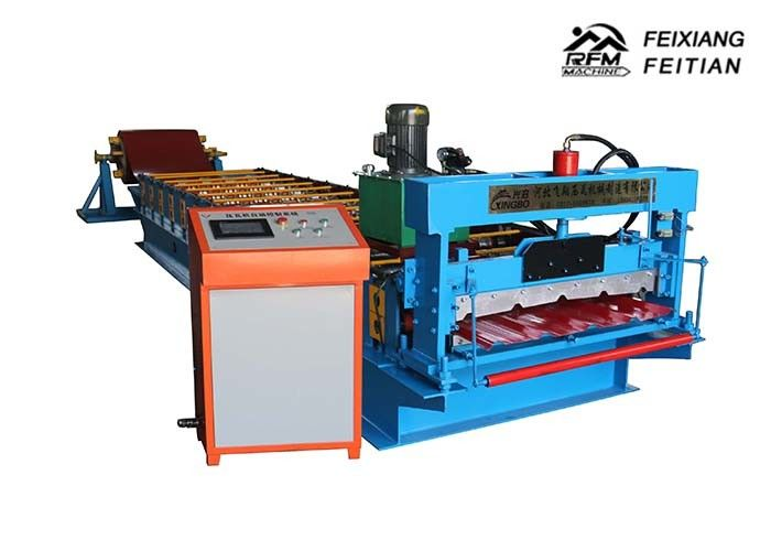 860 Type IBR Color Steel Roll Forming Machine Automatic Control System For Roofing